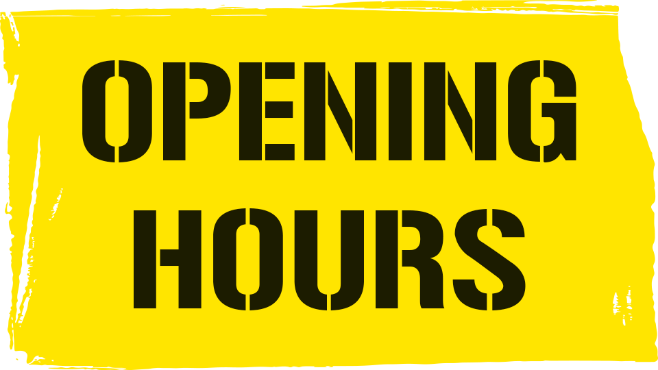 about opening hours sidebar